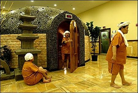 o faire un sauna cor en s oul. Black Bedroom Furniture Sets. Home Design Ideas